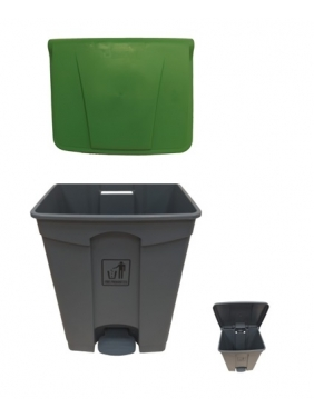 Šiukšliadėžė su pedalu 70L (žalia)
