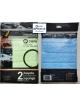 Pack 2 Microfibre Cloths with Sponge (assorted colours)