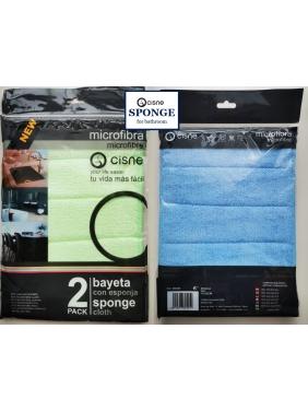 Mikropluošto šluostės voniai Cisne SPONGE BG (2vnt.)