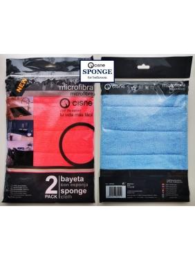 Mikropluošto šluostės voniai Cisne SPONGE BR (2vnt.)