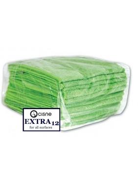 Mikrofibrinė šluostė Cisne EXTRA žalia 12vnt.