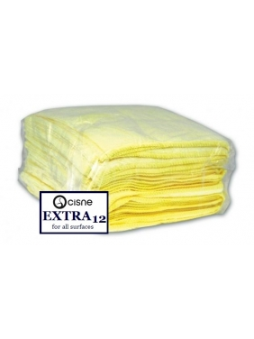 Mikrofibrinė šluostė Cisne EXTRA geltona 12vnt.