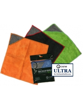 Mircrofiber cloth with abrasive Cisne ULTRA, color 4units