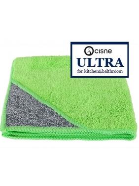 Mikropluošto šluostės virtuvei Cisne ULTRA, žalia