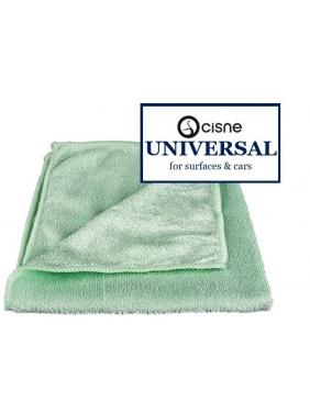Microfiber cloth Cisne UNIVERSAL green, 38x40cm