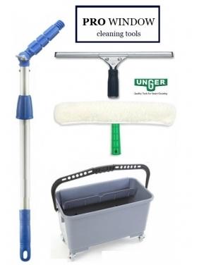 Langų valymo įrankiai UNGER 35cm/45cm + dovana