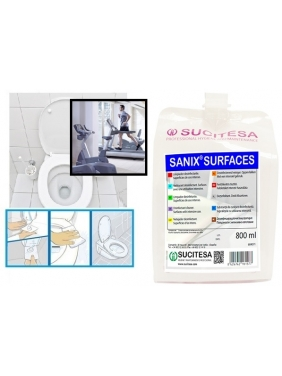 Dezinfekcija intensyviai naudojamiems paviršiams  SANIX SURFACES 800ml