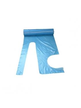 Stiprios vienkartinės prijuostės rulonuose 30µm, mėlynos (50vnt.)