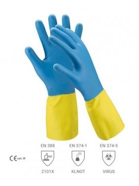Neopreninės - lateksinės pirštinės 32cm, XL (12 porų)