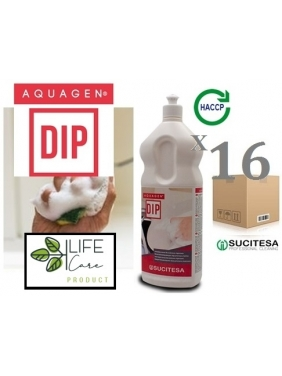 Indų ploviklis su dezinfekcija AQUAGEN DIP 1Lx16vnt. (koncentratas)