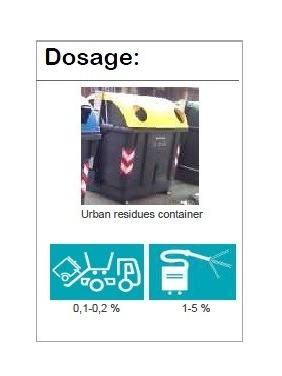 Citrinų kvapo konteinerių ploviklis URBADET COMPLET