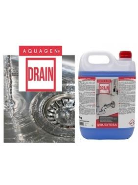 Professional chemical drain opener AQUAGEN DRAIN 5Kg