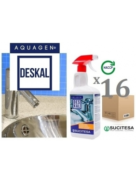 Anti-limescale cleaner AQUAGEN DESKAL 1Lx16units