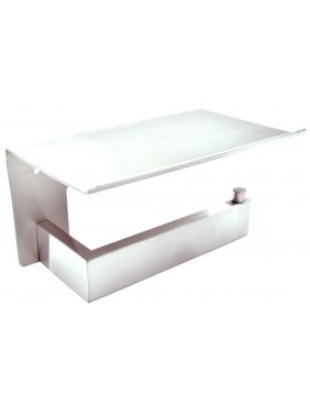 WC paper holder with self HARMONIA (bright)