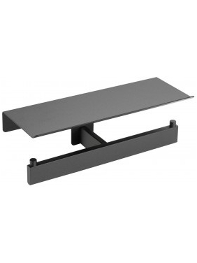 WC paper holder with self HARMONIA (black)