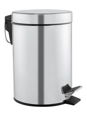 Sanitary bin 3L with pedal, bright