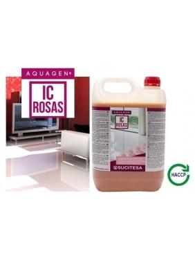 Rožių kvapo grindų ploviklis su bio-alkoholiu AQUAGEN IC ROSAS 5L