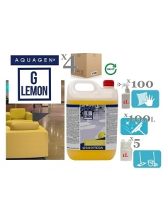 Perfumed cleaner with bio-alcohol AQUAGEN G LEMON (concentrate) 5Lx4units