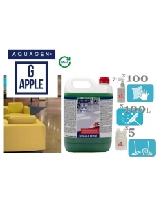 Perfumed cleaner with bio-alcohol AQUAGEN G APPLE 5L (concentrate)