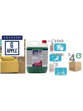 Perfumed cleaner with bio-alcohol AQUAGEN G APPLE (concentrate) 5Kgx4units