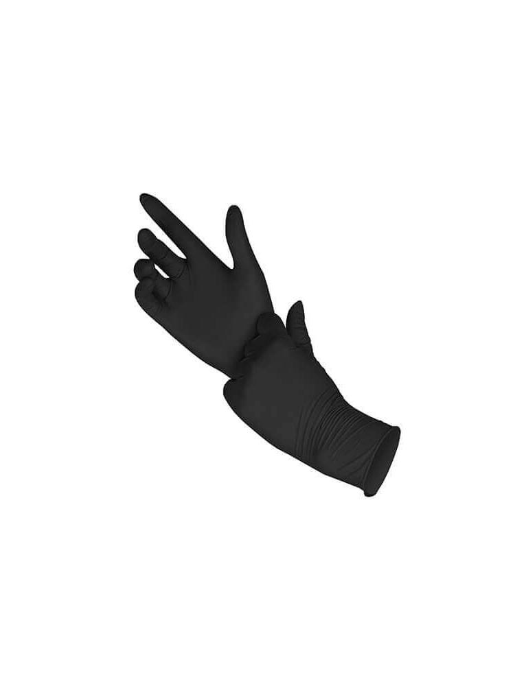 NITRIL disposable gloves BLACK, (100units)