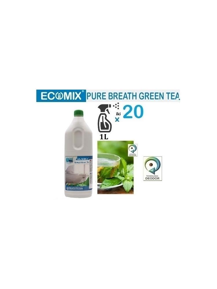 Žalio arbatkvapo gaiviklis orui ir tekstilei ECOMIX BREATH GREEN TEA