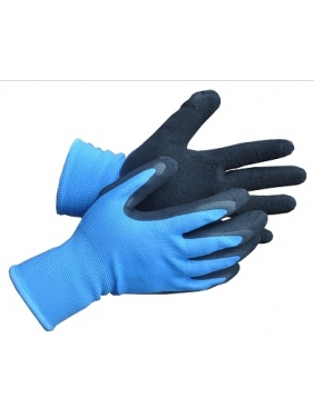Knitted mittens gloves with soft foam latex, L (9 size)
