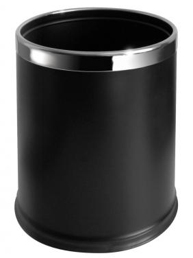 JVD Round Black bin, 10L