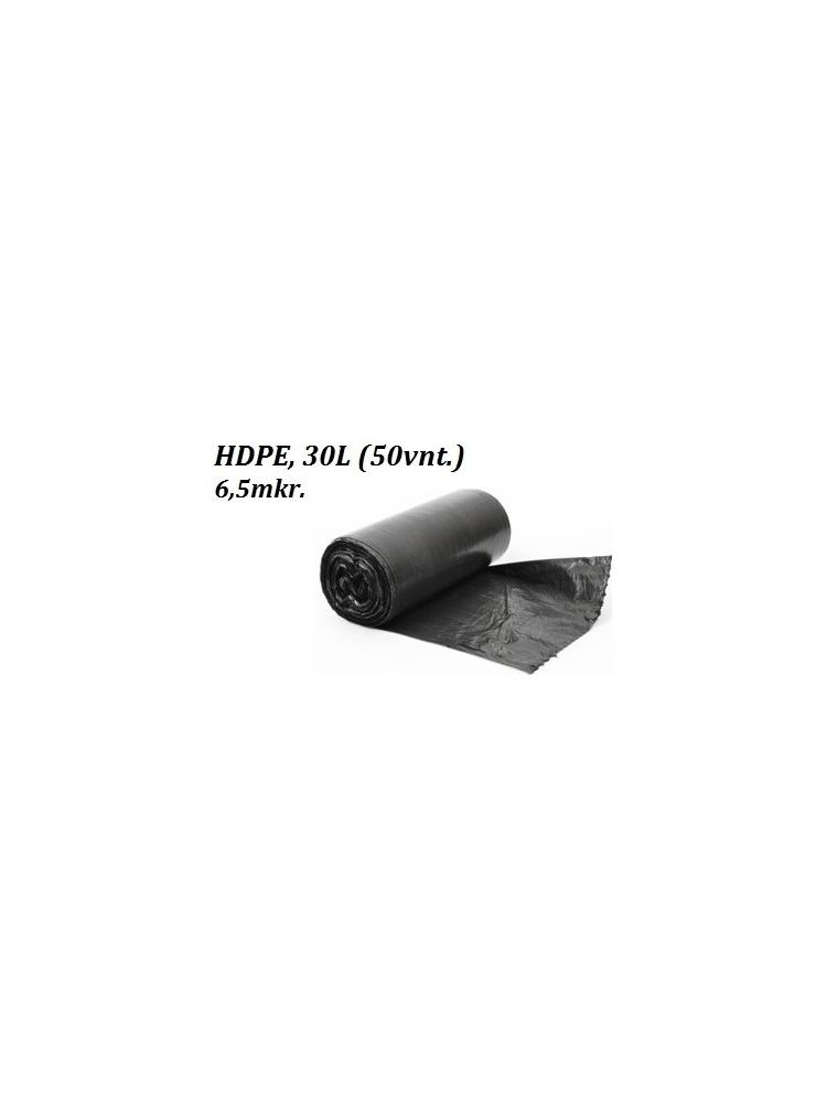 Šiukšlių maišai HDPE 30L (50vnt.)