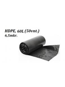 Šiukšlių maišai HDPE 60L (50vnt.)