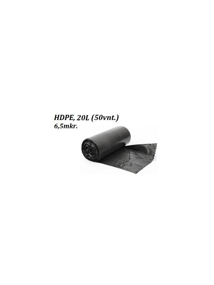 Šiukšlių maišai HDPE 20L (50vnt.)