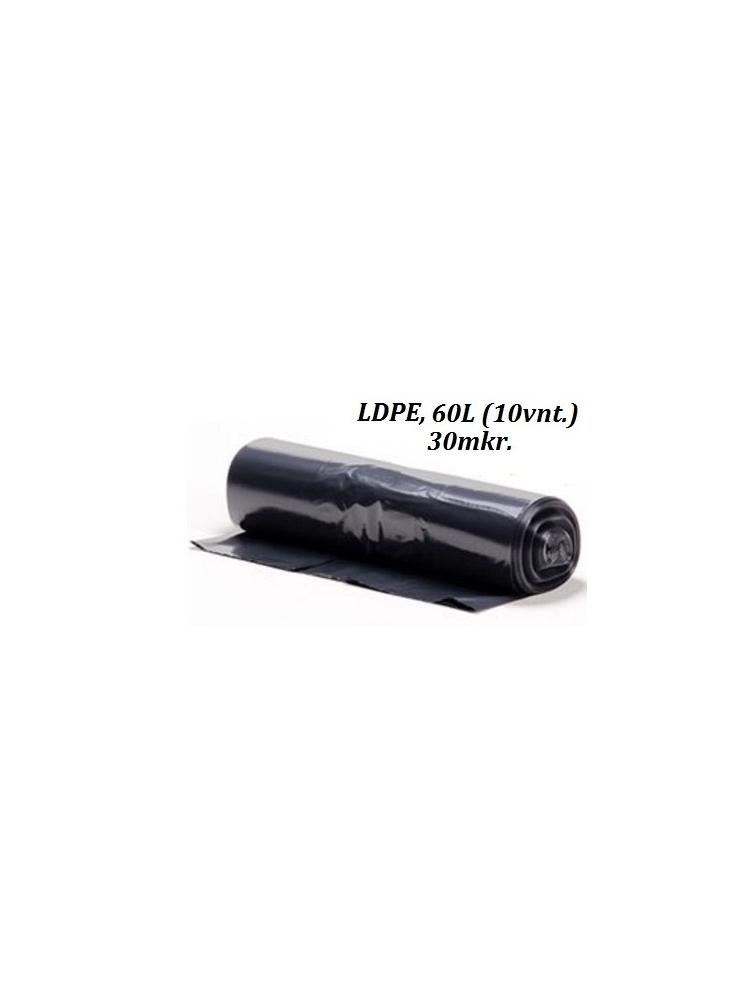 Šiukšlių maišai HDPE 60L (10vnt.)