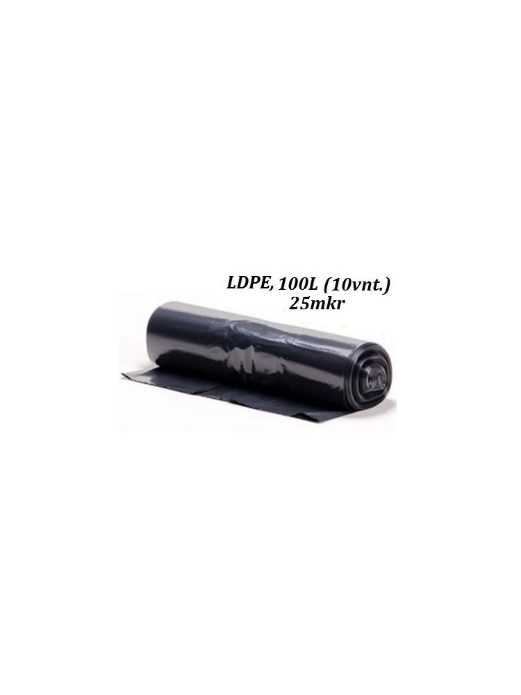 Šiukšlių maišai LDPE 100L (10vnt.)