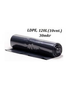 Šiukšlių maišai LDPE 120L (10vnt.)
