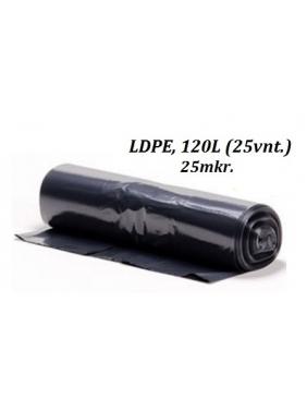 Šiukšlių maišai LDPE 120L (25vnt.)