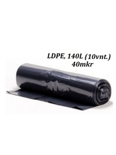 Šiukšlių maišai LDPE 140L (10vnt.)