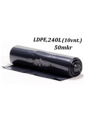 Šiukšlių maišai LDPE 240L (10vnt.)