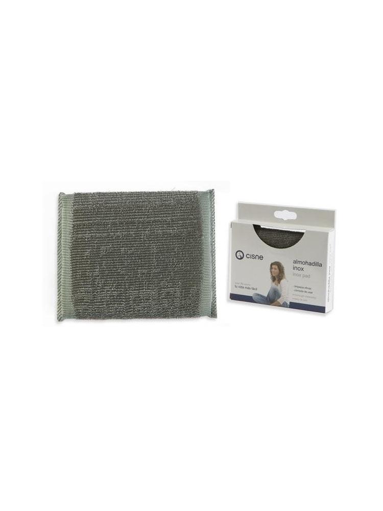 Nerūdijančio plieno šveitimo padas su kempine INOX PAD, 10x12,5cm