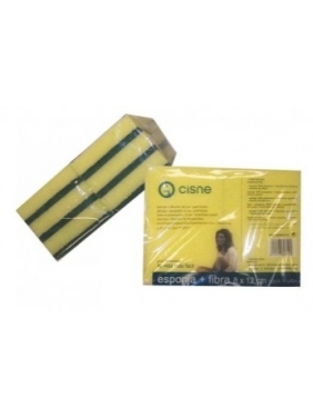 Strong green scouring pad CISNE DISH 12x8x2cm
