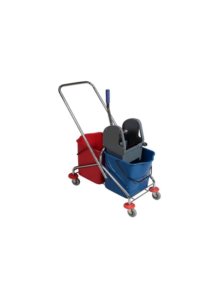 Dviejų talpų valymo vežimėlis ECO RILSAN, 2x25L